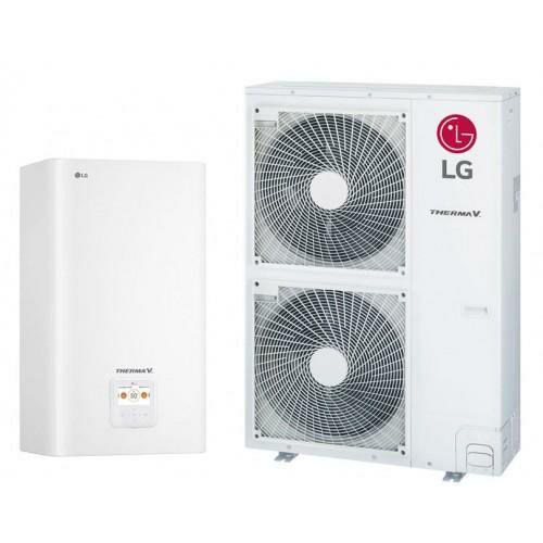 LG Therma V osztott magas hőmérsékletű levegő-víz hőszivattyú 16 kW, 1 fázis